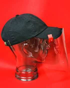 Baseball Cap Face Shield - Plastic Face Shields