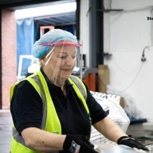 warehousing face visors - PPE Manufacturer UK