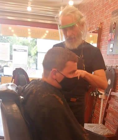 hairdresser and clinic visors